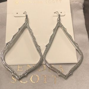 Kendra Scott silver Sophees new with bag!